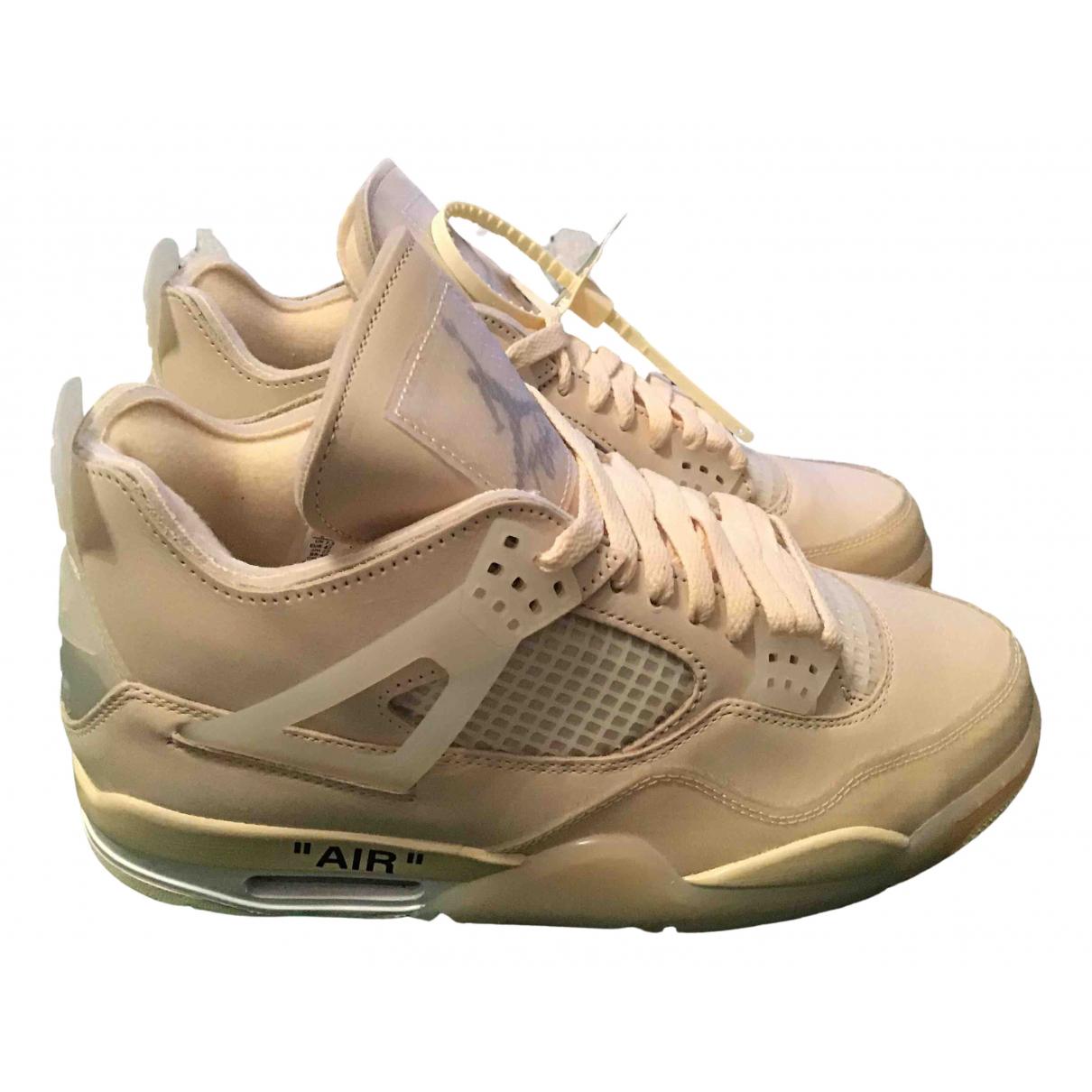 Nike X Off-white Air Jordan 4 Sneakers Beige