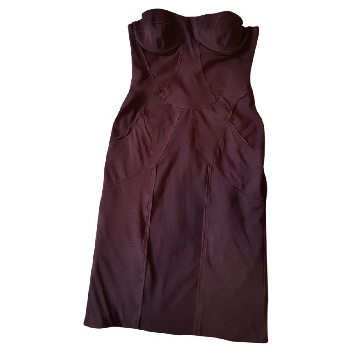 Stella Mccartney \N Kleid in  Bordeauxrot Baumwolle