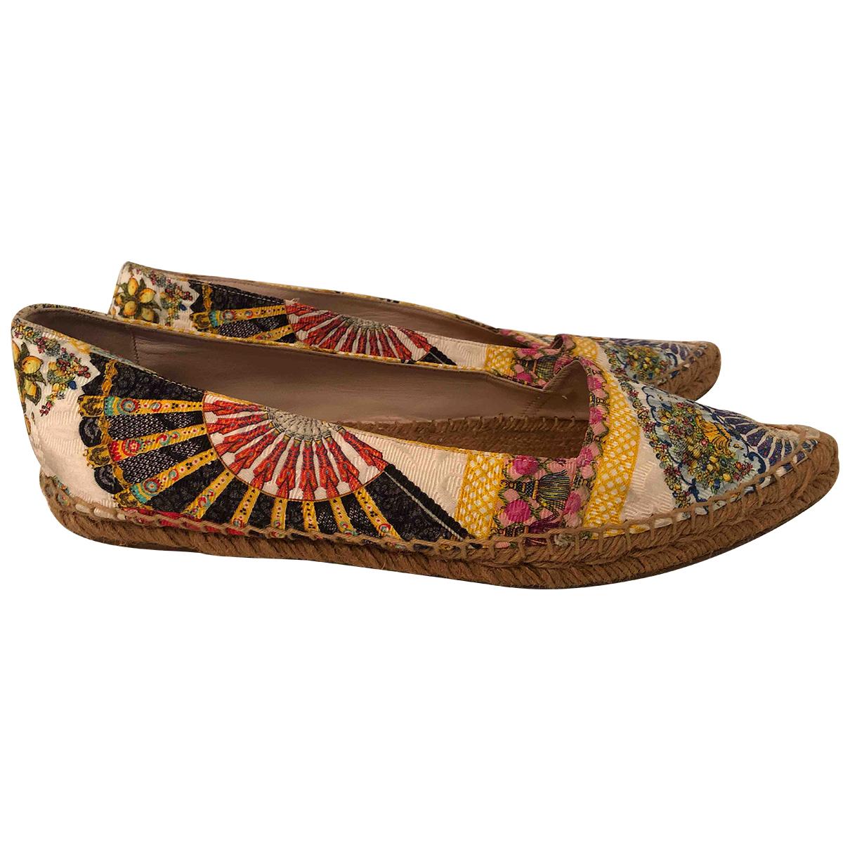 Dolce & Gabbana - Espadrilles   pour femme en cuir - multicolore