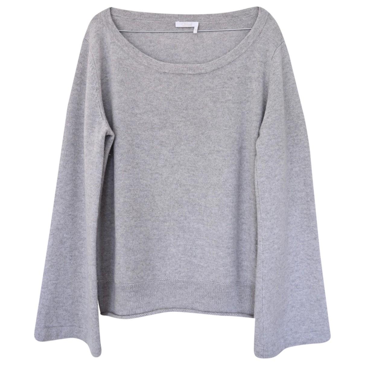 Chloe - Pull   pour femme en cachemire - gris