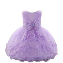 Kleid mit Netzstoff und Schleife vorn