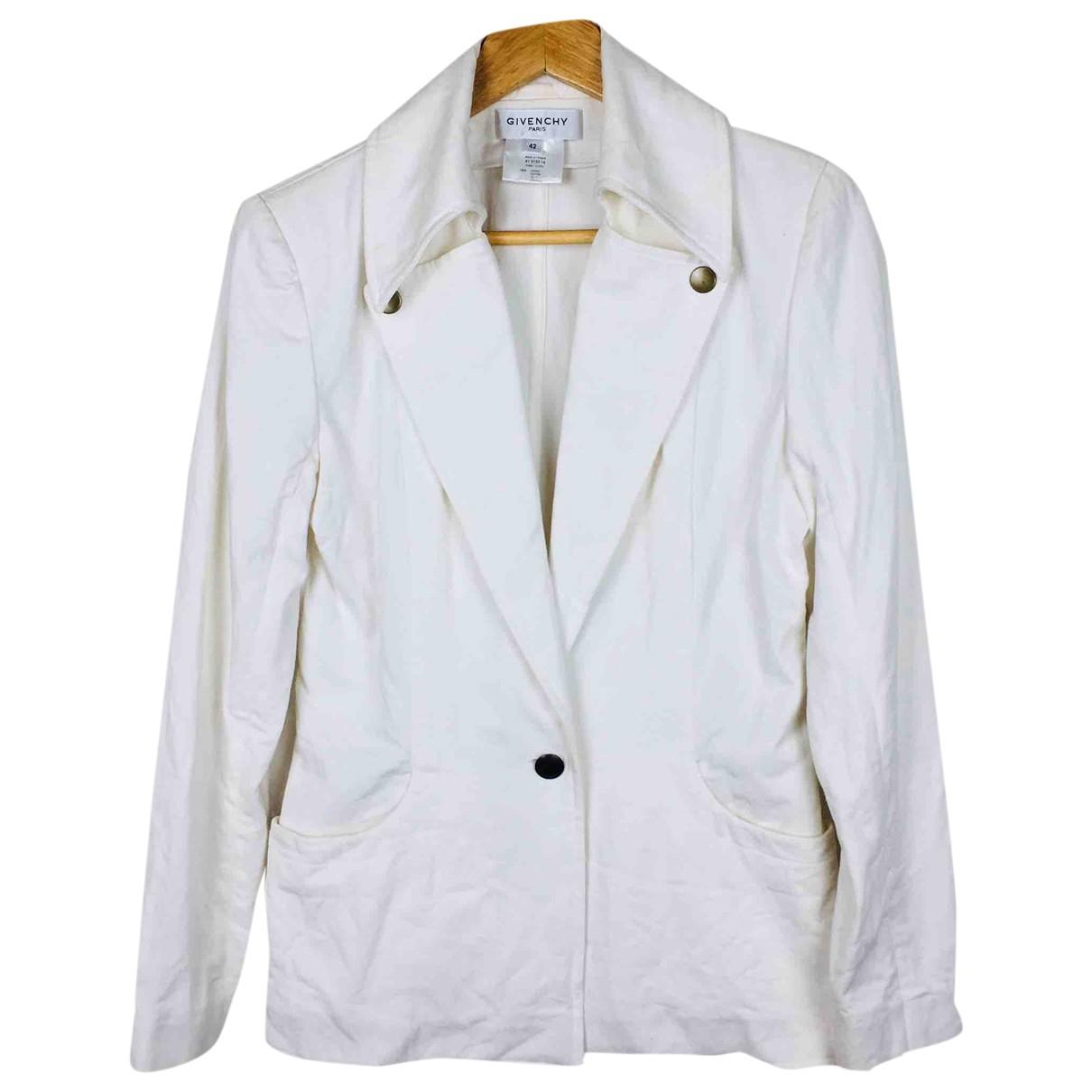 Givenchy - Manteau   pour femme en coton - blanc
