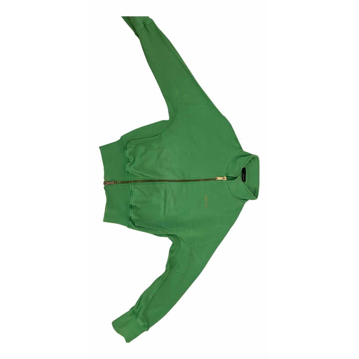 Dsquared2 N Green Cotton Leather jacket for Women M International