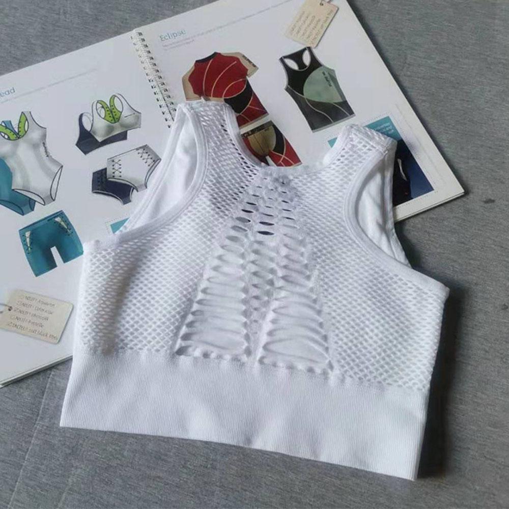 High Impact Seamless Sports Bra Women Yoga Bra Crop Tops Workout Fitness Activewear Racerback Padded Shirt