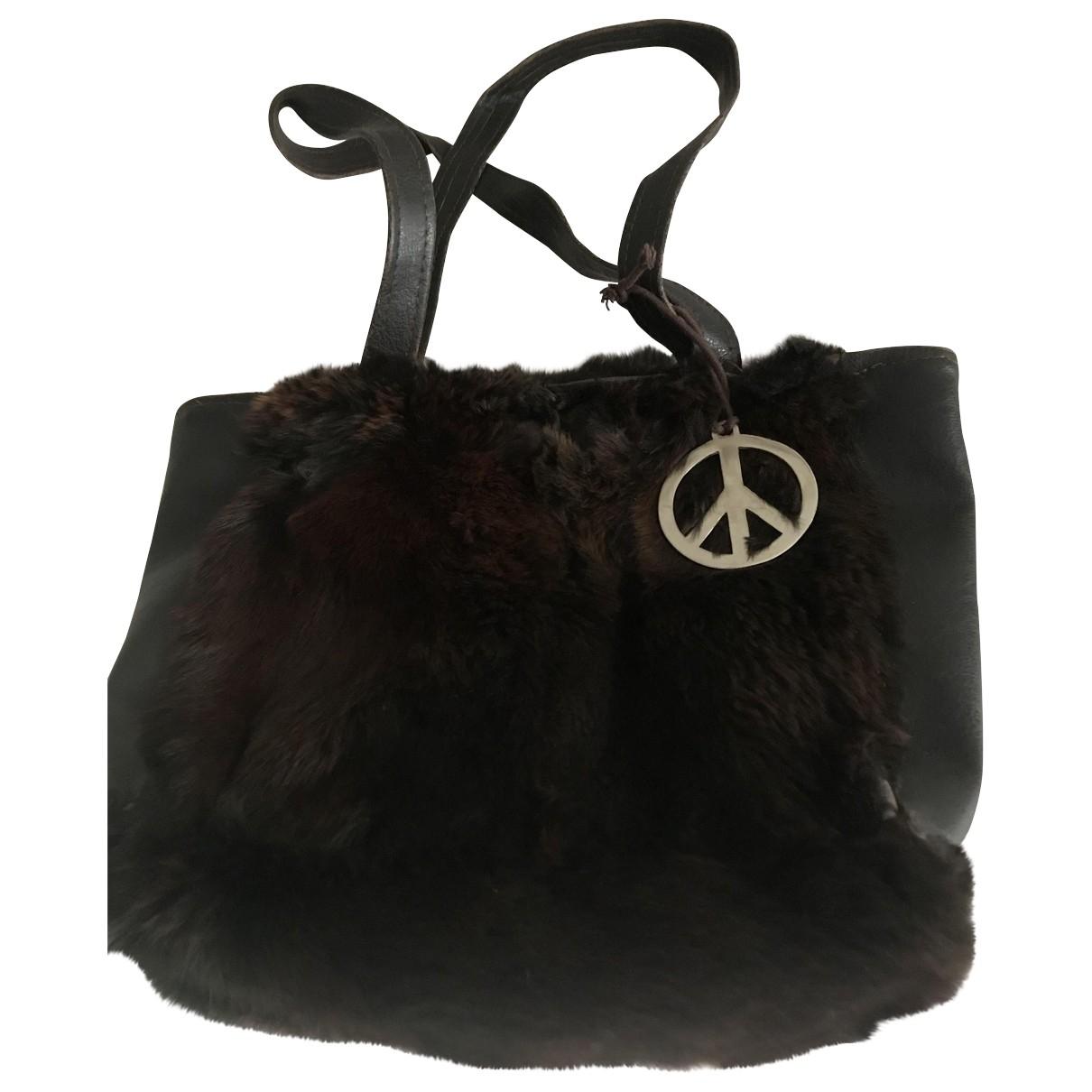 Non Signe / Unsigned \N Handtasche in  Braun Exotenleder