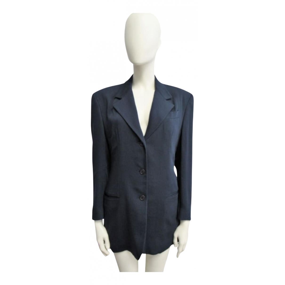 Dolce & Gabbana \N Jacke in  Blau Wolle