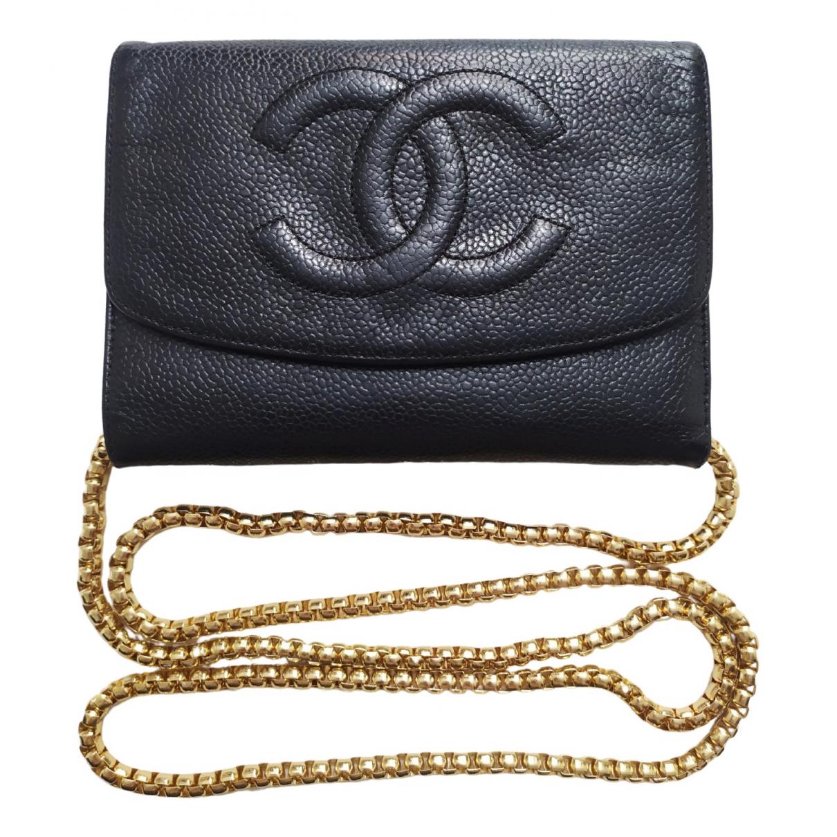 Chanel \N Black Leather wallet for Women \N