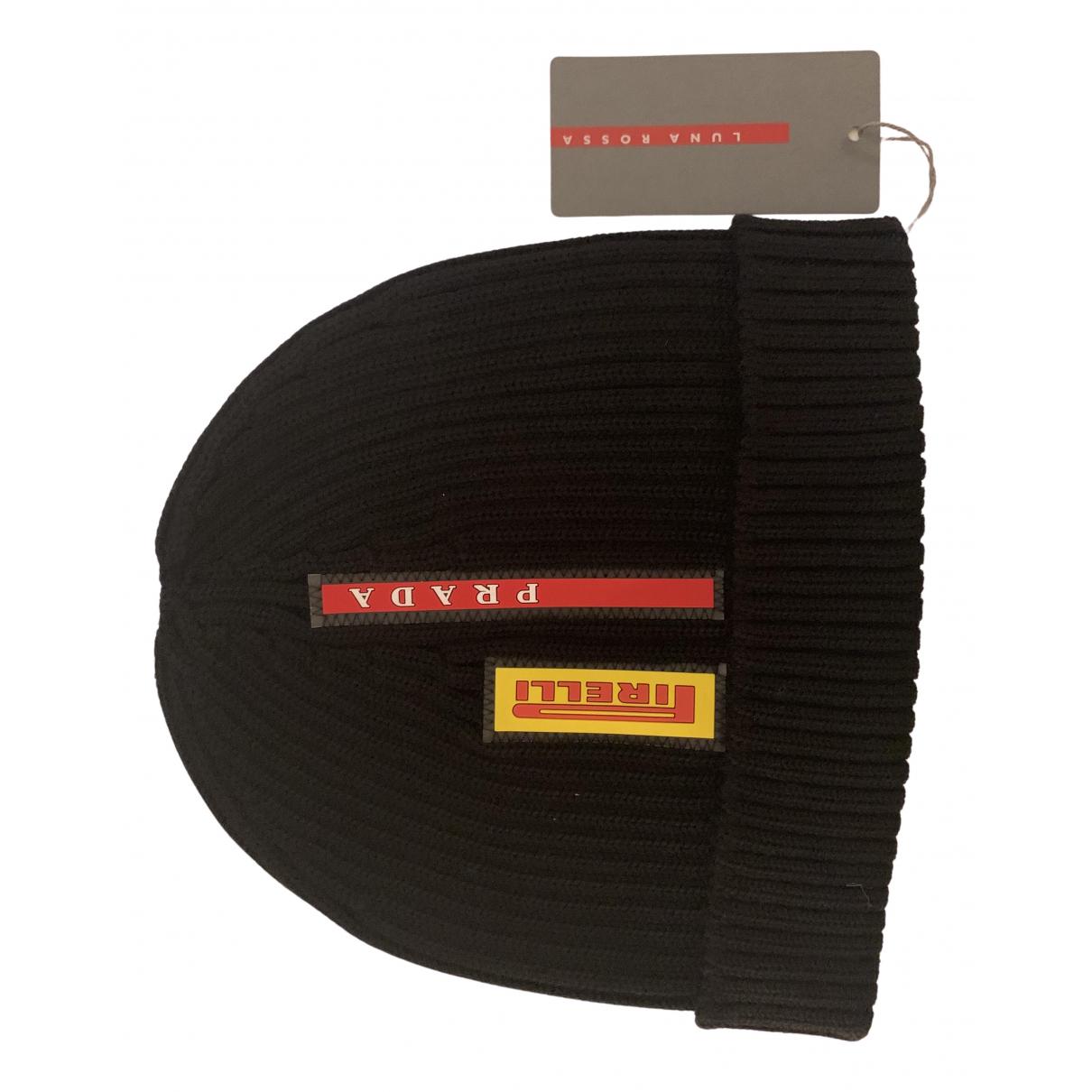 Prada - Chapeau & Bonnets   pour homme en laine - noir
