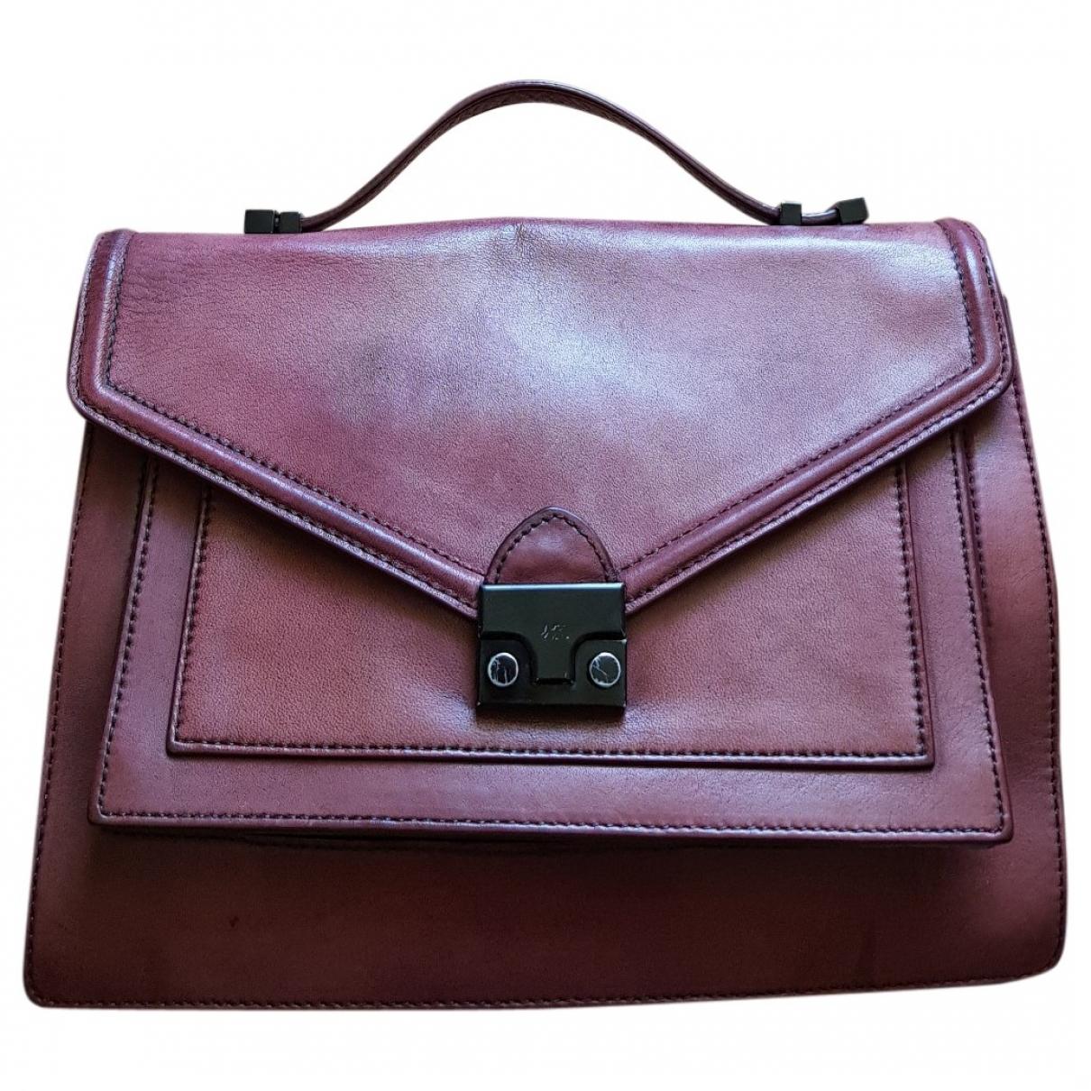 Loeffler Randall \N Handtasche in  Bordeauxrot Leder