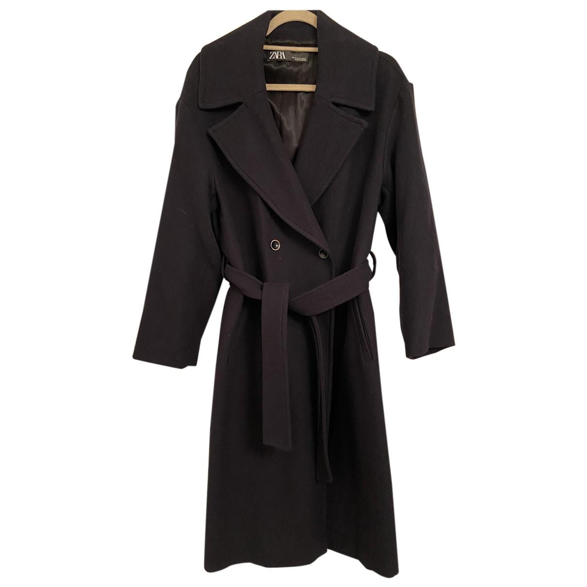 Zara - Manteau   pour femme en laine - marine