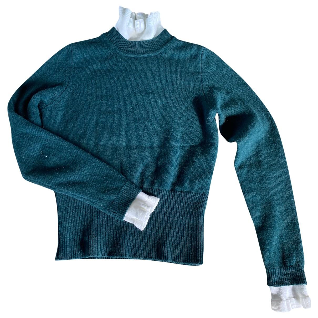 Sandro - Pull   pour femme en laine - vert