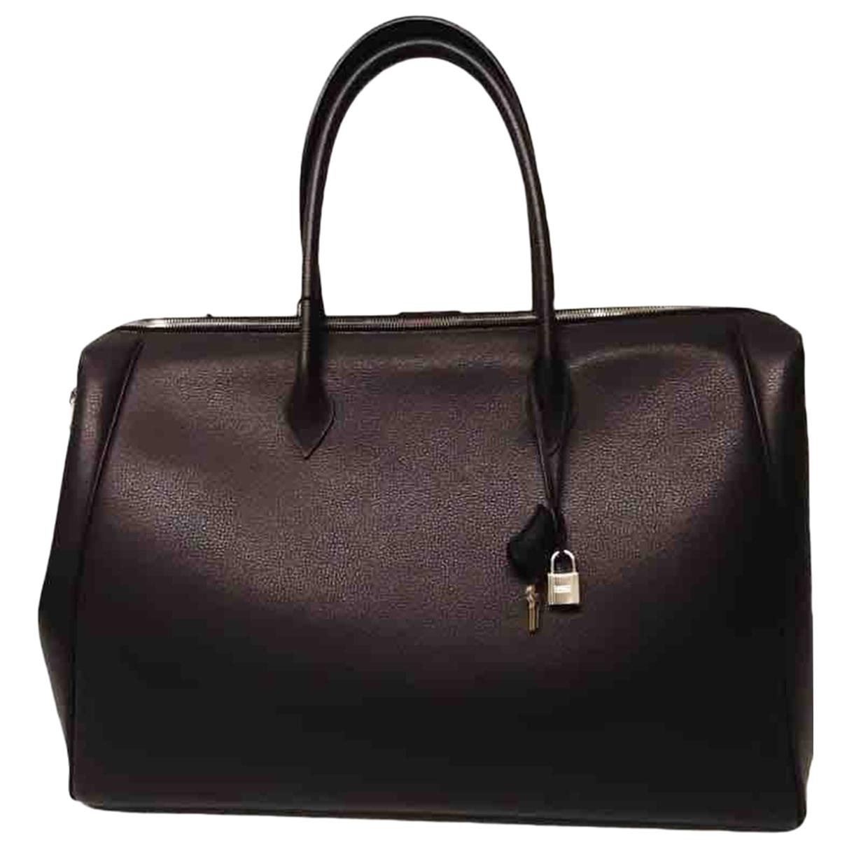 Hermes - Sac de voyage Paris Bombay pour femme en cuir - marron