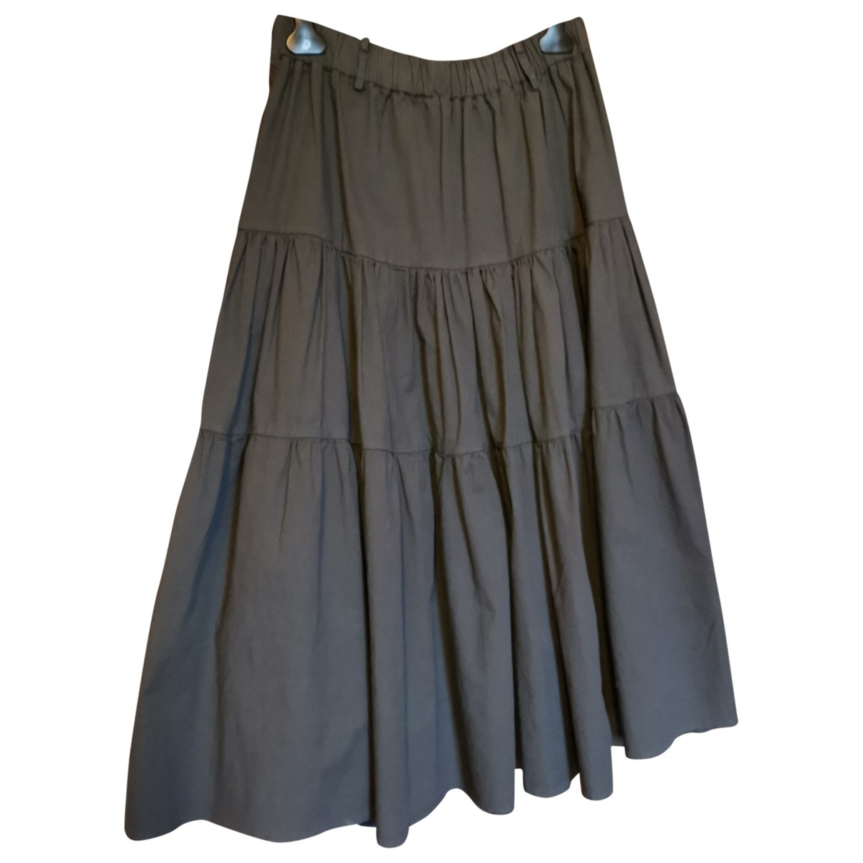 Non Signé / Unsigned Oversize Grey Cotton skirt for Women One Size IT