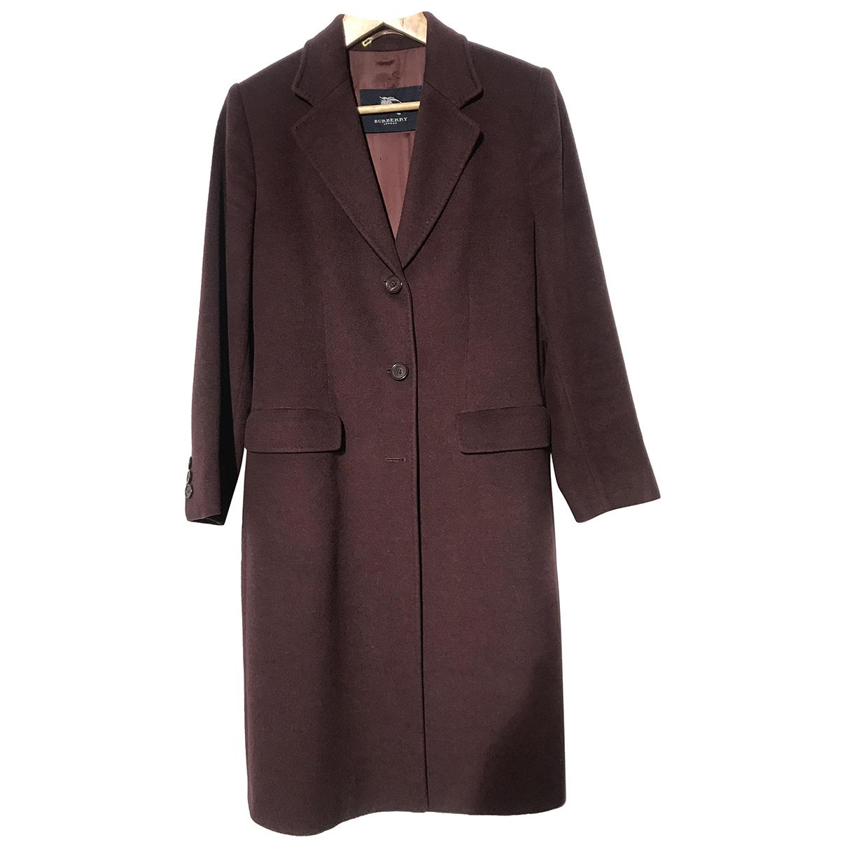 Burberry N Burgundy Wool coat for Women 44 IT
