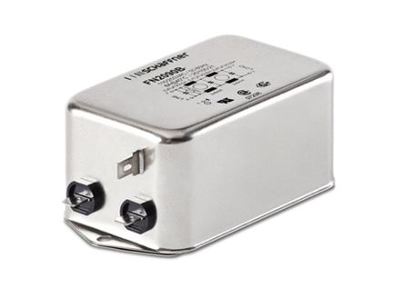 Schaffner , FN2090 4A 250 V ac 0 → 400Hz, Chassis Mount RFI Filter, Tab