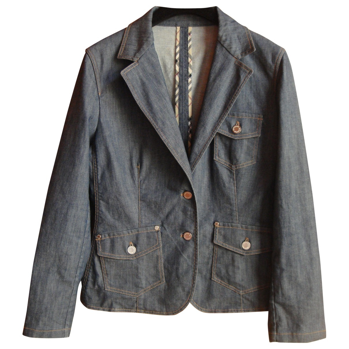 Burberry \N Blue Denim - Jeans jacket for Women 42 FR