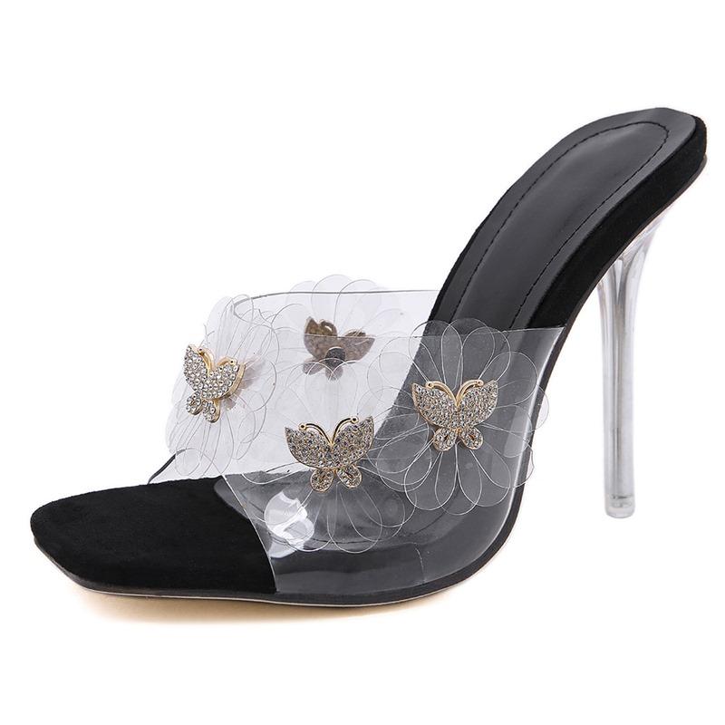 Ericdress Stiletto Heel Flip Flop Slip-On Rubber Slippers
