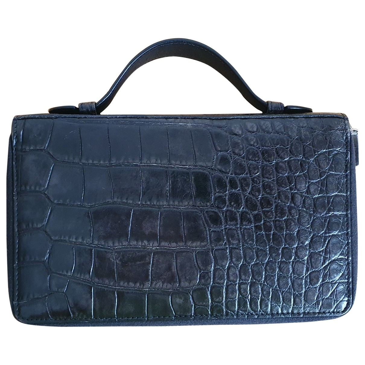 Gucci \N Black Crocodile Small bag, wallet & cases for Men \N