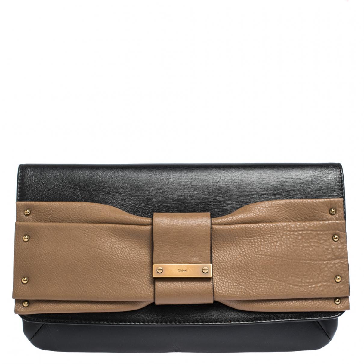 Chloé \N Black Leather Clutch bag for Women \N
