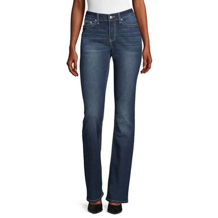 Love Indigo-Tall Womens Regular Fit Bootcut Jean, 10 Tall , Blue