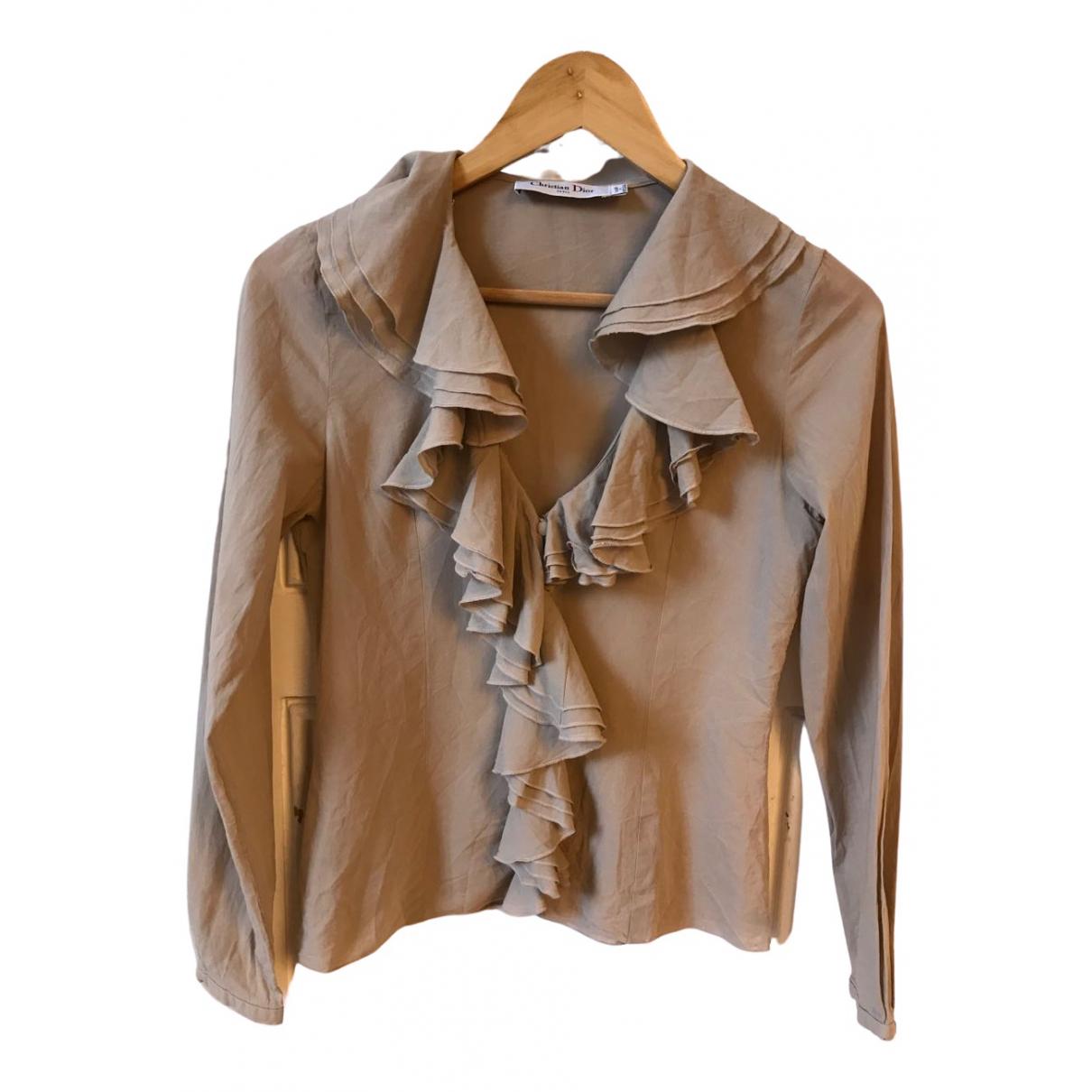 Dior - Top   pour femme en coton - beige