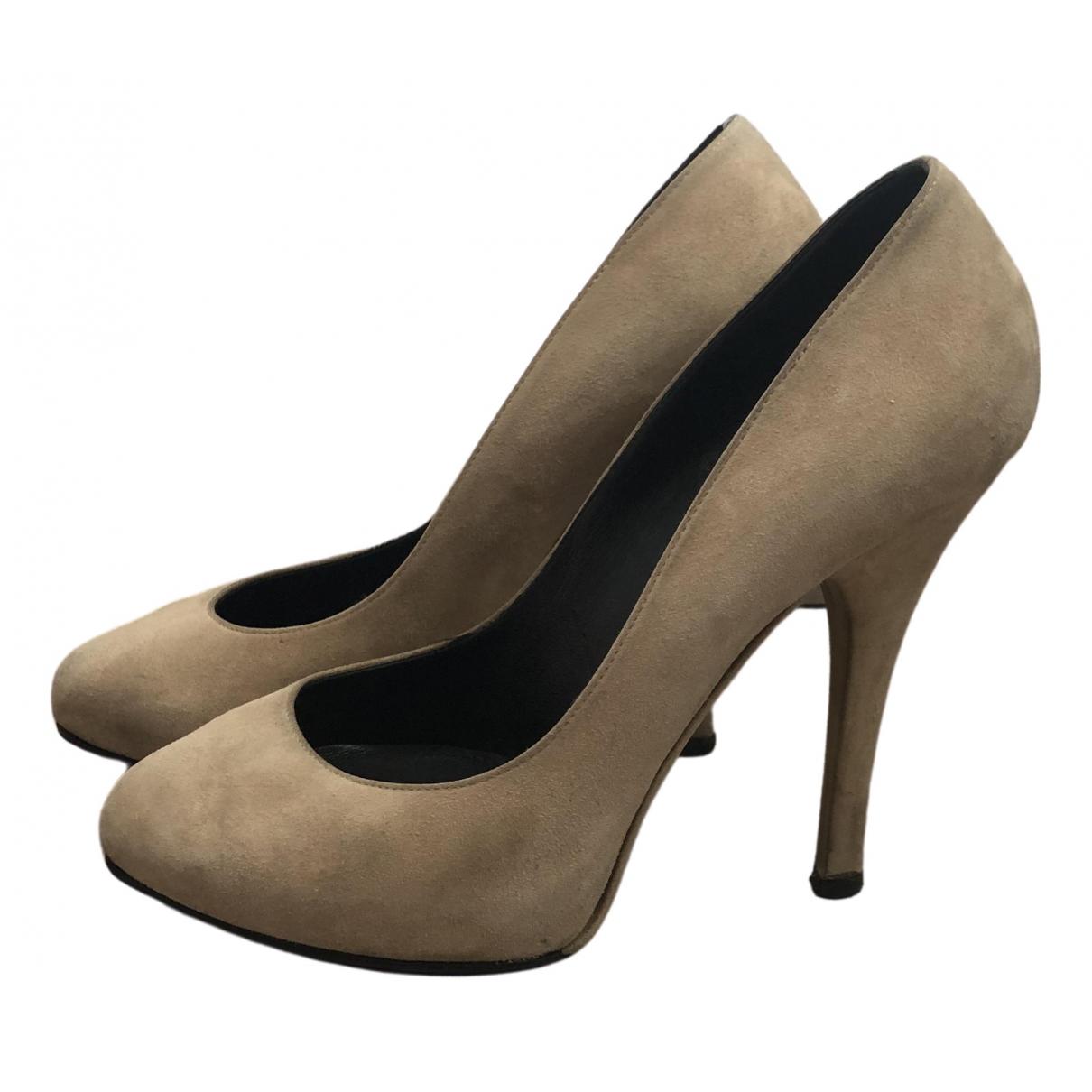 Dolce & Gabbana \N Beige Suede Heels for Women 39 EU