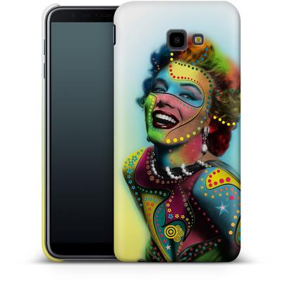 Samsung Galaxy J4 Plus Smartphone Huelle - Woman With Pattern von Mark Ashkenazi