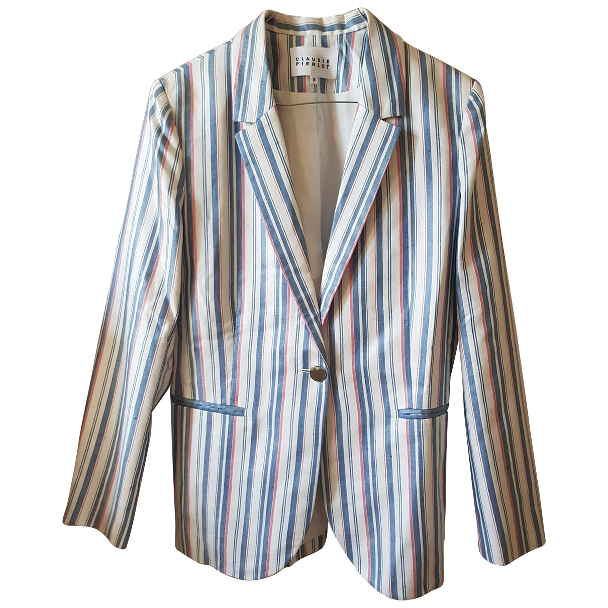 Claudie Pierlot - Veste Spring Summer 2019 pour femme en coton - bleu