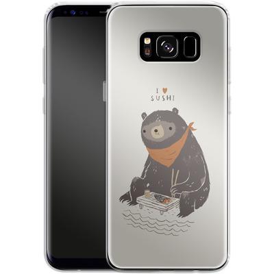 Samsung Galaxy S8 Silikon Handyhuelle - Sushi Bear von Louis Ros