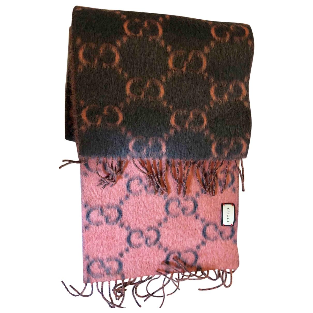 Gucci - Foulard   pour femme en laine - anthracite