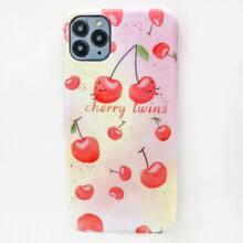 Funda de iphone con patron de cereza