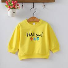 Toddler Boys Cartoon & Letter Graphic Sweatshirt