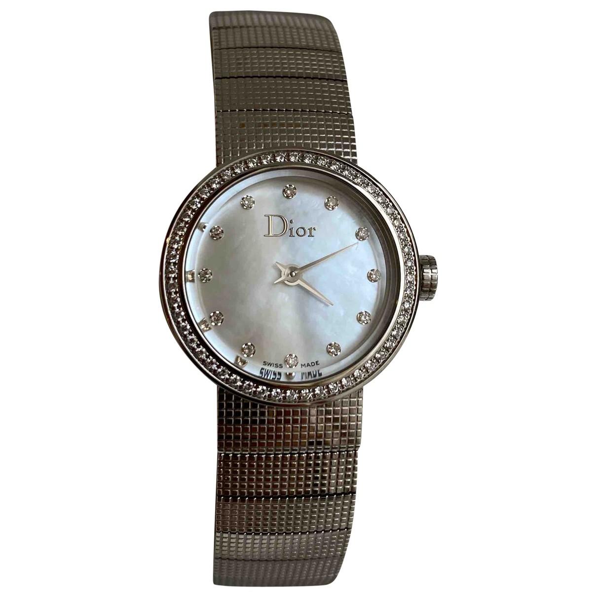 Dior D Uhr in  Silber Stahl