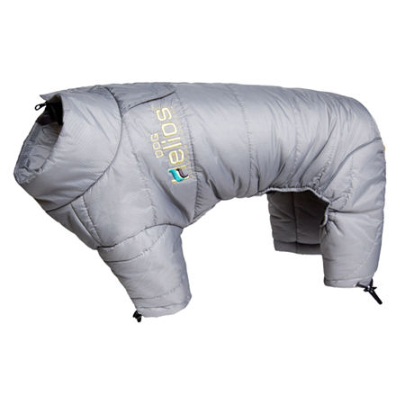 The Pet Life Helios Thunder-crackle Full-Body Waded-Plush Adjustable and 3M Reflective Dog Jacket, One Size , Gray