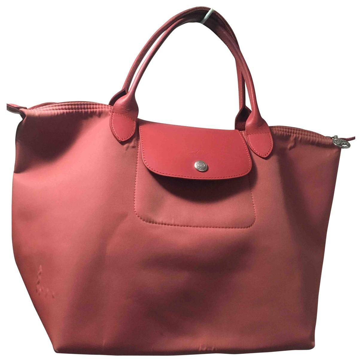 Longchamp Gatsby Handtasche in  Rot Leinen