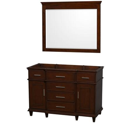 WCV171748SCDCXSXXM44 48 in. Single Bathroom Vanity in Dark Chestnut with No Countertop and No Sink and 44 in.