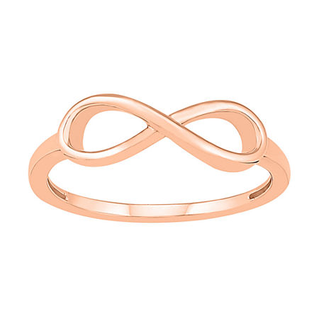 5.5MM 10K Rose Gold Infinity Band, 4 , No Color Family