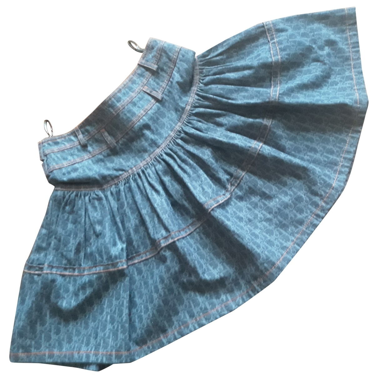 Dior - Jupe   pour femme en denim - bleu