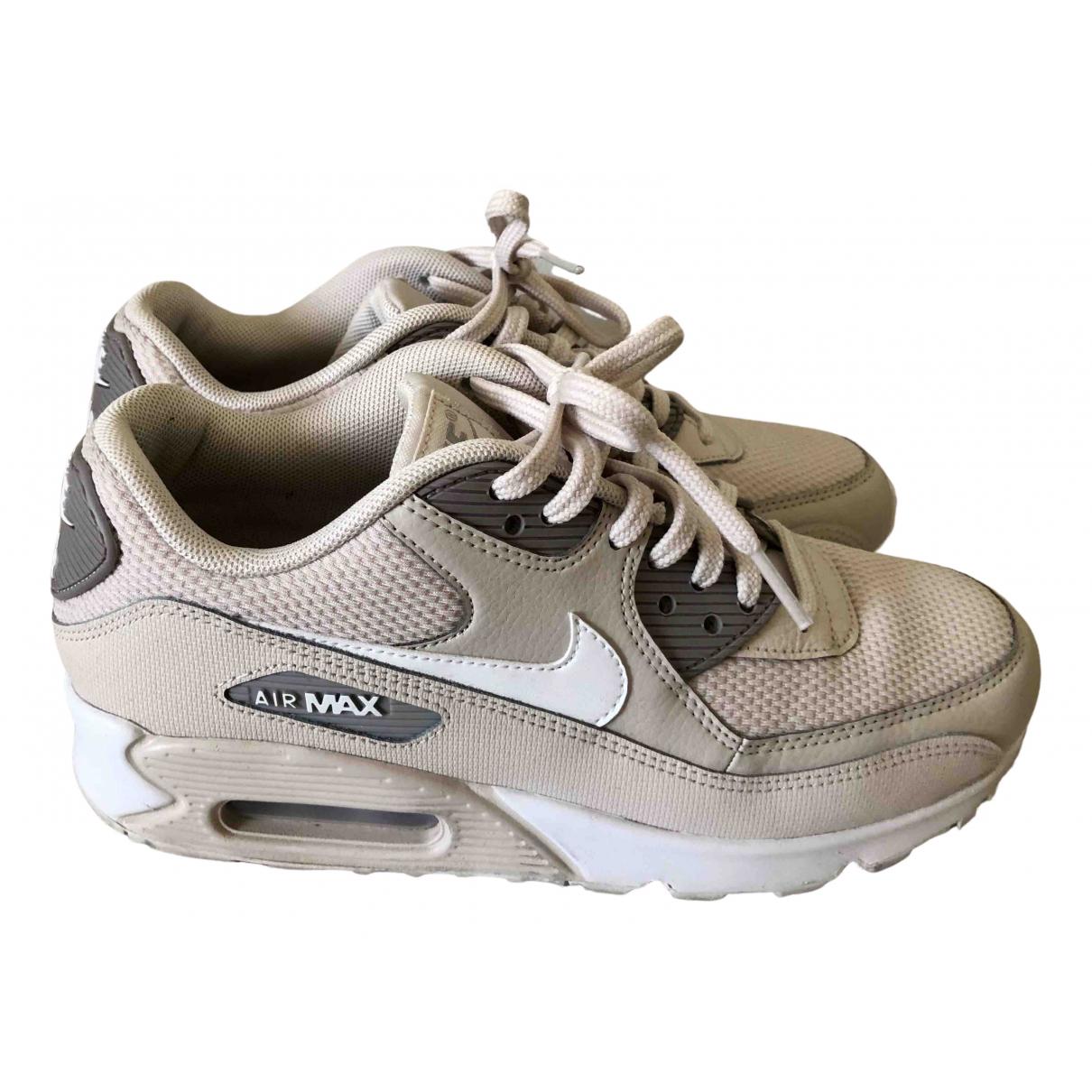 Nike Air Max 90 Sneakers in  Beige Polyester