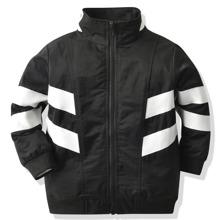 Toddler Boys Funnel Neck Striped Windbreaker Jacket