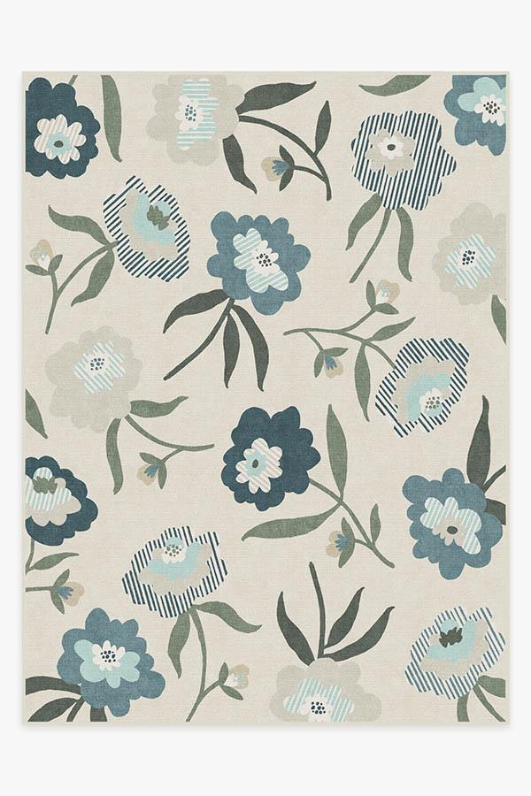 Washable Rug Cover | Fleur Margaritte Jade Rug | Stain-Resistant | Ruggable | 9x12
