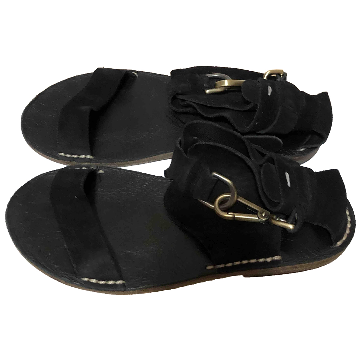 Maison Martin Margiela \N Black Suede Sandals for Women 40 EU