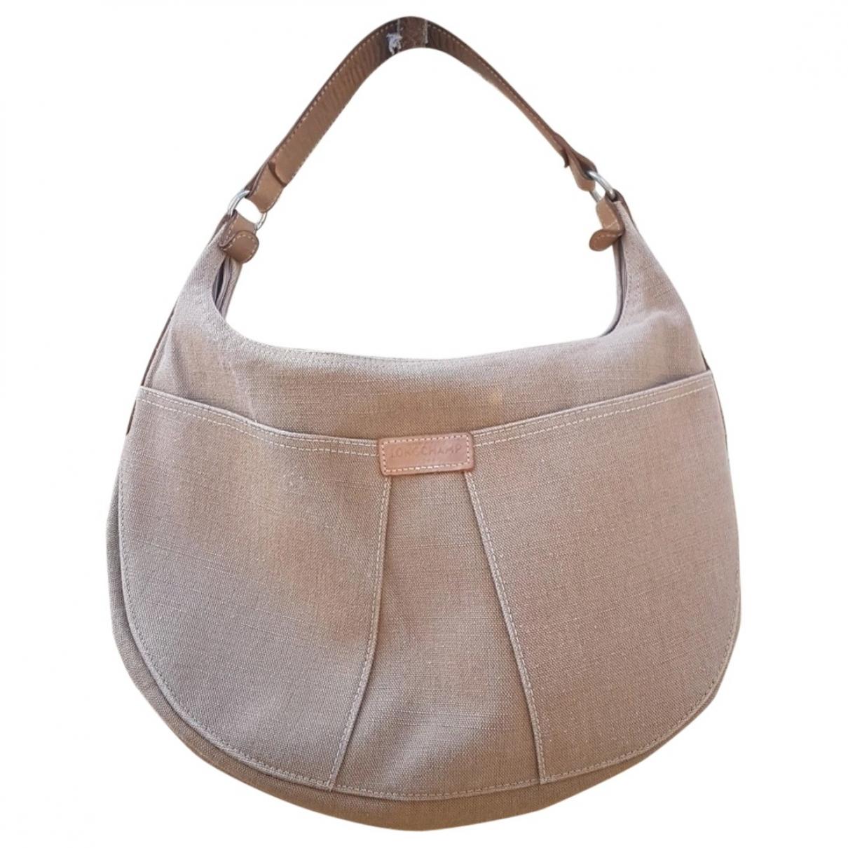 Longchamp - Sac a main   pour femme en coton - beige