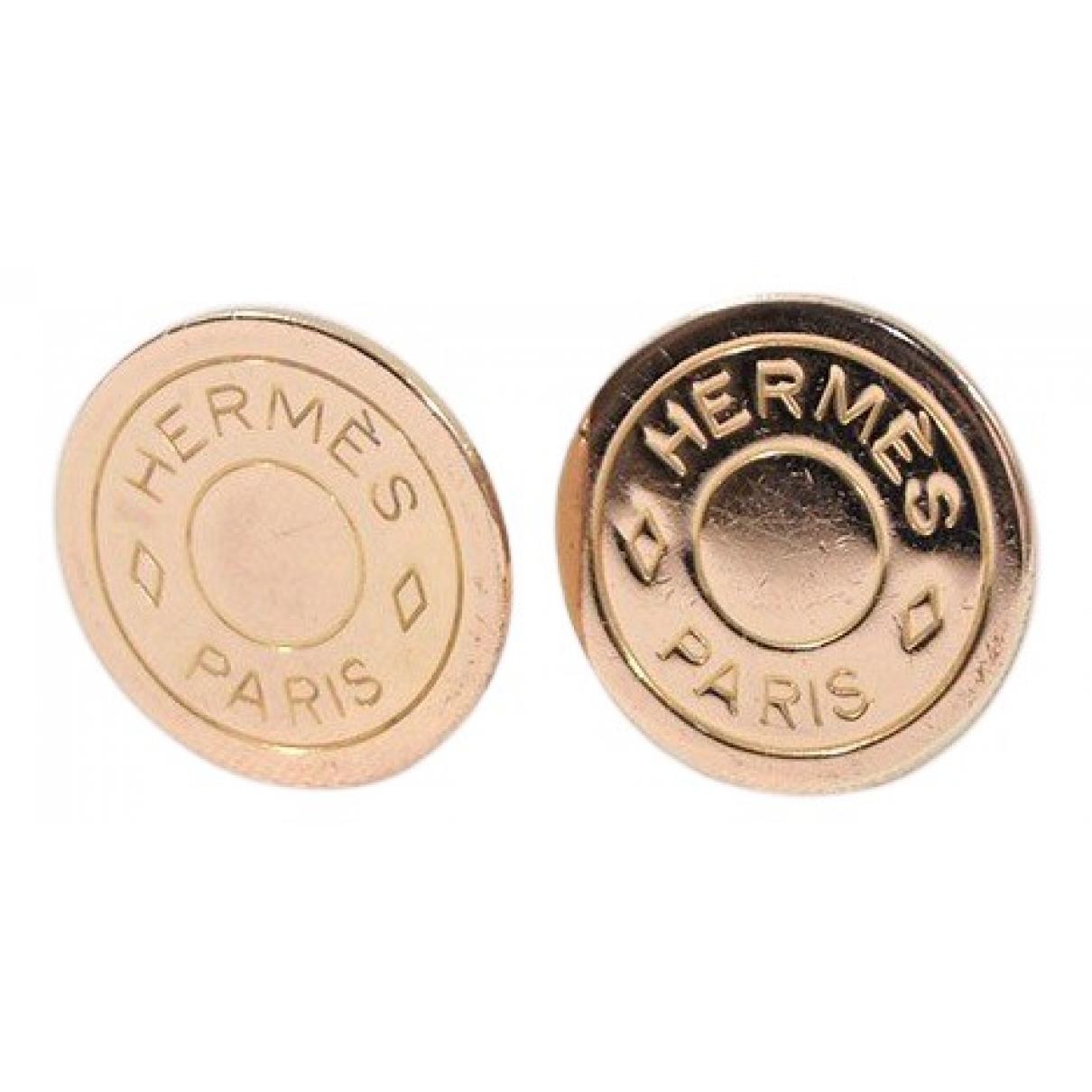 Hermès N Gold Gold plated Earrings for Women N