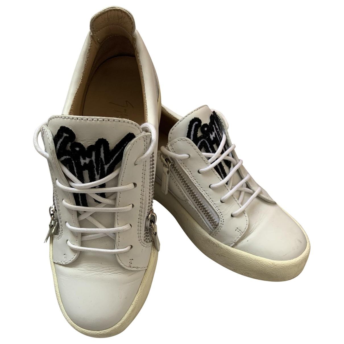 Giuseppe Zanotti - Baskets Donna pour femme en cuir - blanc