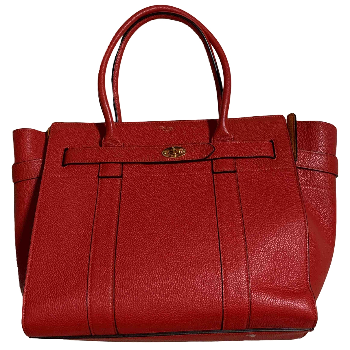 Mulberry Bayswater tote Red Leather handbag for Women \N