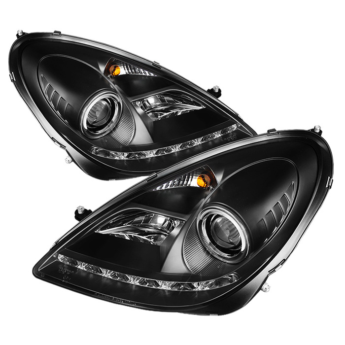 Spyder Auto PRO-YD-MBSLK05-HID-DRL-BK Black DRL Projector Headlights with High H1 Lights Included Mercedes Benz SLK55 AMG with Xenon|HID Lights 05-10