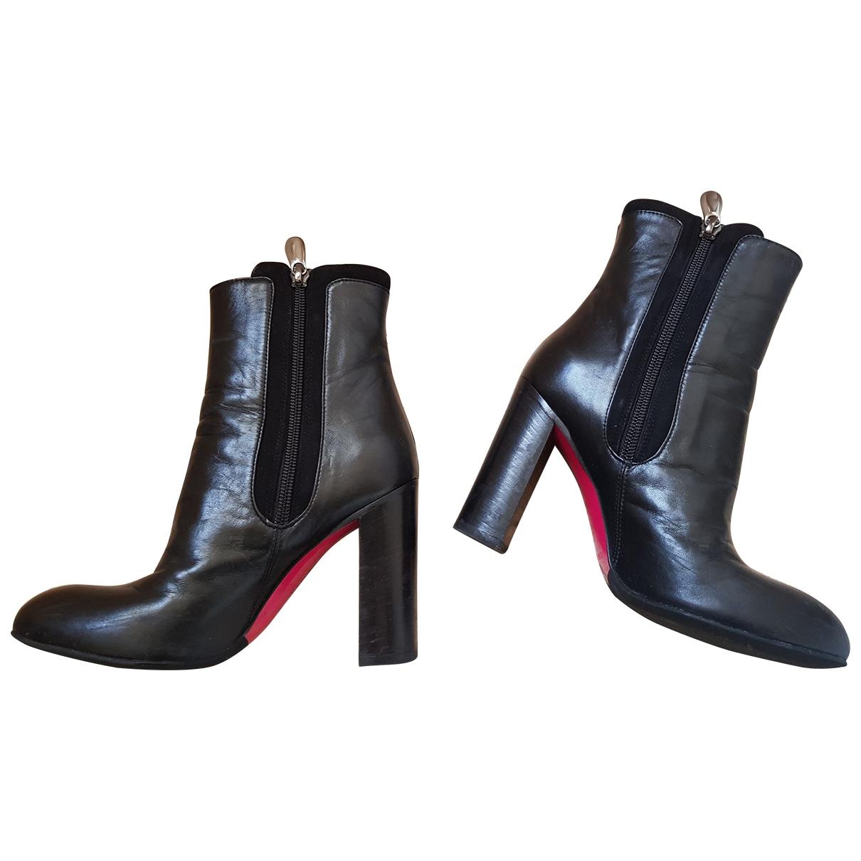 Luciano Padovan - Boots   pour femme en cuir - noir