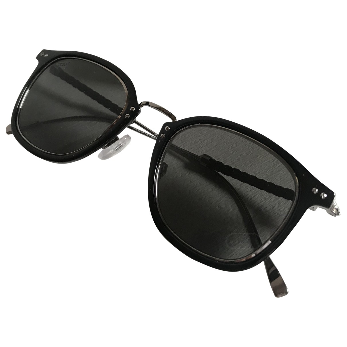 Tod's \N Black Metal Sunglasses for Men \N