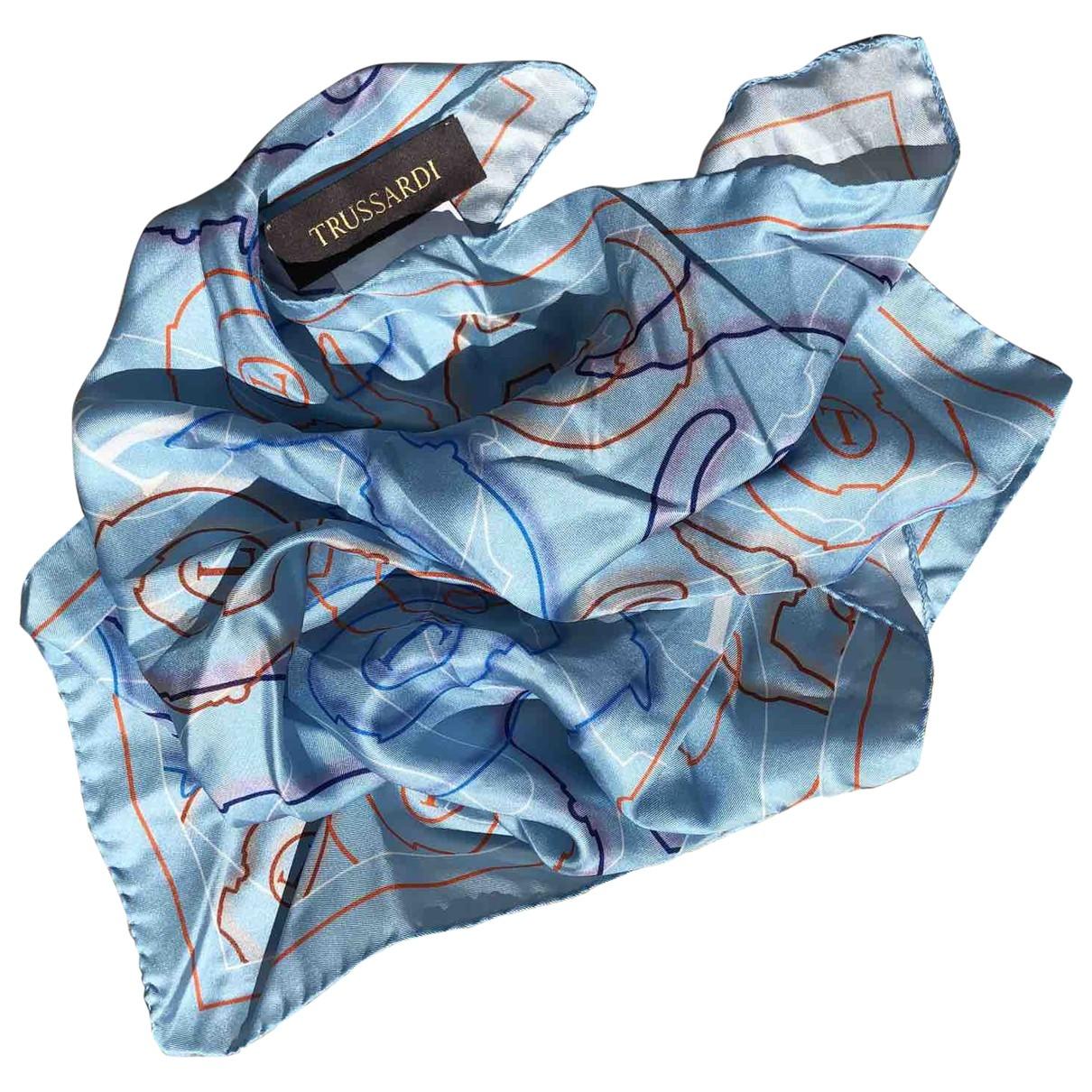 Trussardi \N Blue Silk Silk handkerchief for Women \N